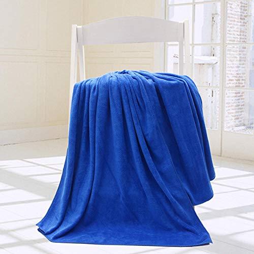 Lyolk Toalla Grande Absorbente Suave para Adultos, Toalla de baño Grande Suave-Royal Blue_90 * 190