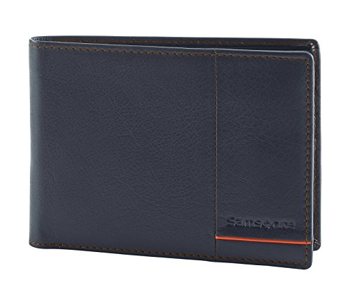 Outline 2 SLG - Billfold for 8 Creditcards, Compartments Tarjetero, 13 cm, 0 Liters, Azul (Night Blue/Chili)