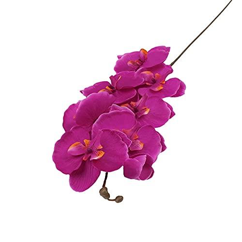 Ramo de seda rosa rosa de 30 cm de peonía de flores falsas DIY novia boda decoración del hogar Navidad rosa flor