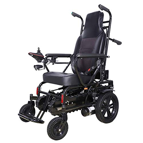 NMDD Älterer elektrischer Treppensteiger, behinderter intelligenter 4-Rad-Rollstuhl, mit Lenkhebel und elektromagnetischer Bremse