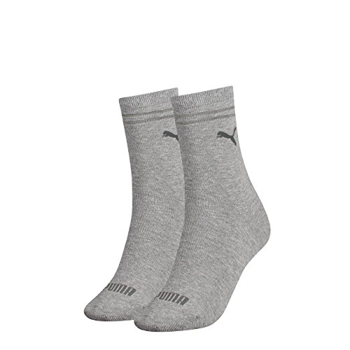 PUMA Damen New Casual Socken Classic 6er Pack, Größe:39-42, Farbe:Grey Melange (032)
