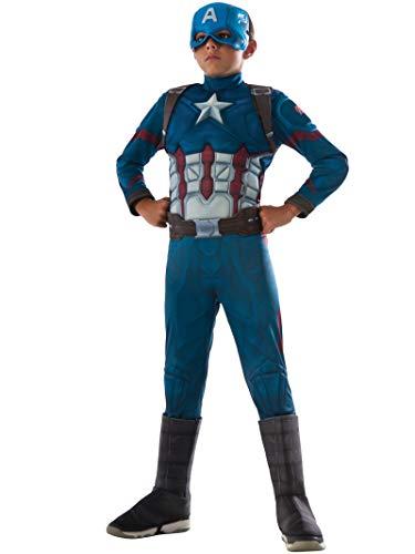 Rubie's IT620591-M - Costume Capitan America con Muscoli, taglia M (per 5-7 anni)