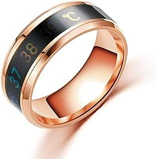 خاتم مصنوع من التيتانيوم المخصص للرجال والنساء (لون الحجر الرئيسي: النمط4، مقاس الخاتم: 11)
