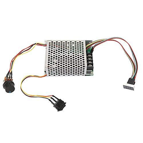 ZLININ Controlador de pantalla digital de velocidad del motor 0~100% controlador de velocidad ajustable PWM DC 10-50V 40A del motor reversible