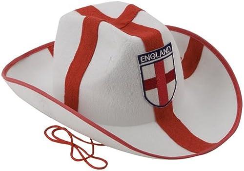 24 X Angleterre Cowboy Style de chapeaux avec sequins - Euros 2016 - DéguiseHommests
