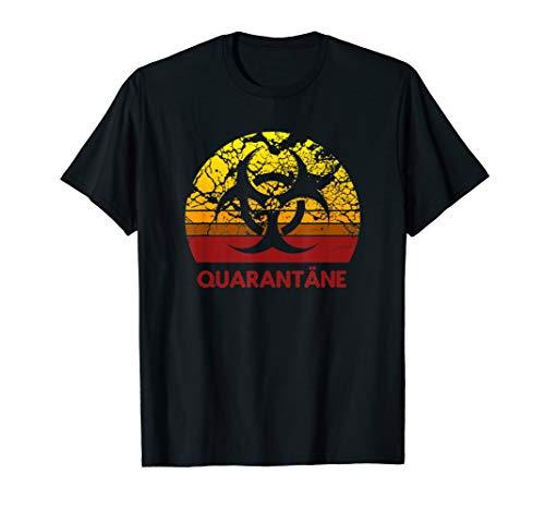 Quarantäne Logo Biohazard Symbol Trendy Grippe Influenza T-Shirt