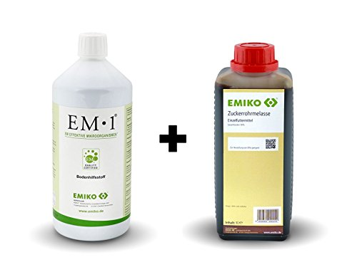EM 1 1l und EM Zuckerrohrmelasse 1l zur Herstellung von EMa