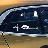 ZHANGDAN 2 Piezas calcomanía de Vinilo Reflectante para Coche Pegatina de Ventana Lateral calcomanía para Seat FR Leon MK3 MK2 Ibiza 6J 6L Altea Ateca Toledo 2 3 1 4