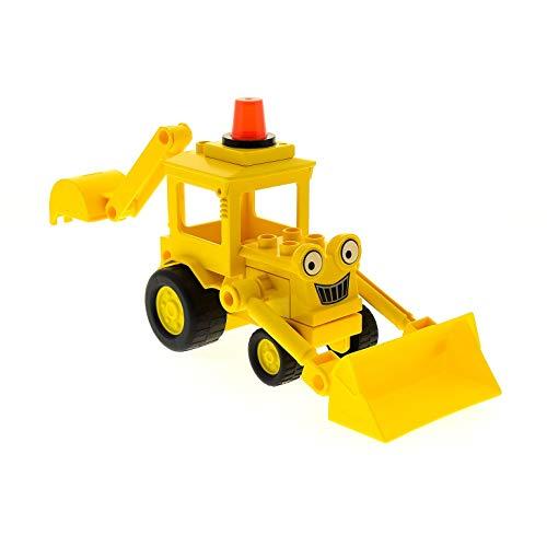 1 x Lego Duplo Fahrzeug Baggi gelb Bob der Baumeister Bagger Schaufel Greifarm 40668pb01 dscoopc01
