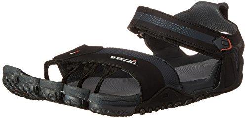 Sazzi Digit Outdoor Hiking Sport Sandal Runner Blk/Gry Size US Men's 10 US Women's 11 UK 9 EU 43 CM 28