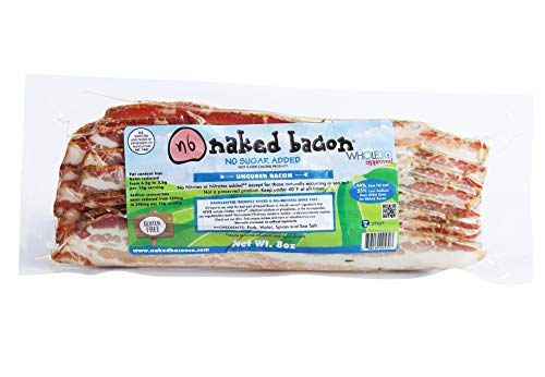 No Sugar Added Whole30 Approved Uncured Bacon, Nitrate Free - Multipack (5 Packages) - Paleo, WW, Keto, No Sugar, Low Fat, Low Sodium, Healthier Bacon