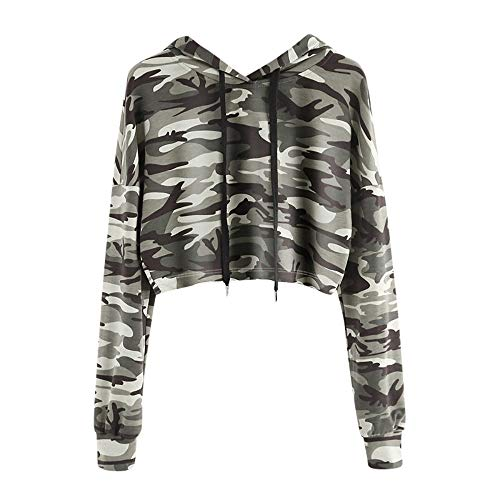 Hooded sweatshirt dames oversized outfit met hoodie sweatjas camouflage capuchon korte blouses zomer elegant sweater T-shirt bedrukken