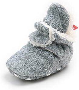 MK MATT KEELY Zapatos de calcetín de bebé invierno Botas antideslizantes de suela blanda para bebé niño o niña Infantil Nieve Botas Zapatos Cuna Prewalker 0-6 Meses