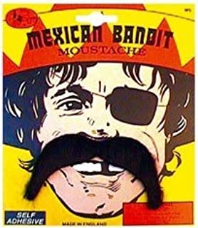 Mexican Bandit Fancy Dress Moustache Tash Tache by Pams
