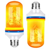 Flame Effect Light Bulb, E26 LED Flickering Flame Effect Light With Upside Down Effect,105pcs 2835 LED Beads Simulated Decorative Light for Christmas Decorations/ Hotel/ Home/ Restaurants(2 Pack) .
