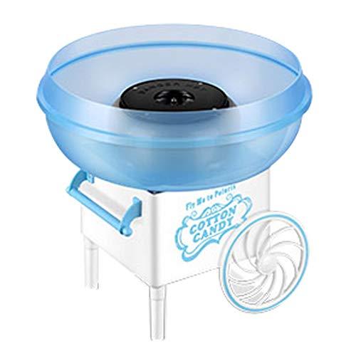 Mini Machine À Sucrer en Forme De Sucre Portable Machine À Sucrer en Coton Électrique Maker Enfants Fille Garçon Cadeau Fête du Carnaval pour Enfants Roscloud@ (Couleur : Bleu)