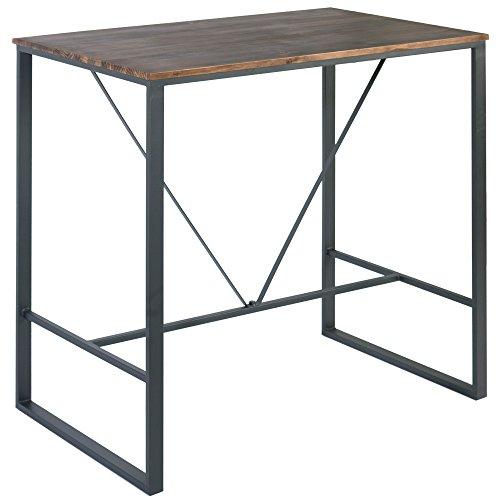 Indhouse Plat – Table haute Restaurant Loft style industriel en métal et bois Cove