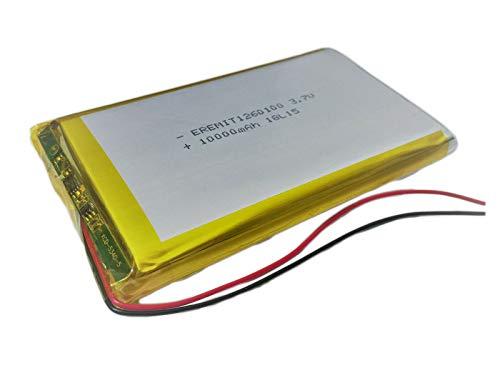 Lithium Polymer LiPo Batterie Akku 10000mAh 3.7 V 1S Powerbank PCB 1260100 Tablet 10
