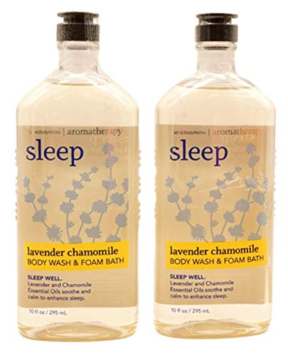 Bath & Body Works Aromatherapy Sleep Lavender & Chamomile Body Wash & Foam Bath - 2 Pack