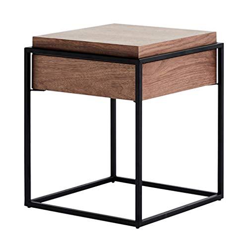 Table basse, table basse en bois massif multifonctions salon créatif table de thé chambre stockage rack personnalité table basse simple grille table de chevet carrée