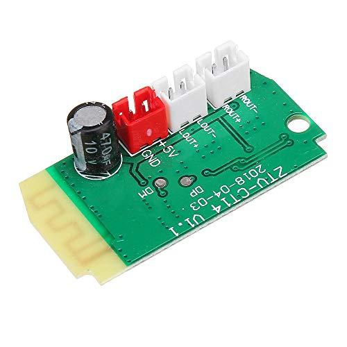 LICHONGUI 3W * 2 Mini Módulo Receptor Bluetooth con Altavoces 4OHM Amplificador de energía Tablero de Audio Decodificación Módulo MP3