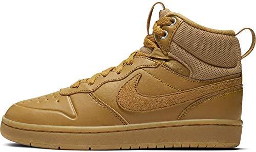 Nike Unisex-Kinder Court Borough Mid 2 Boot (GS) Sneaker, Braun (Wheat/Wheat-Gum Medium Brown), 38.5 EU