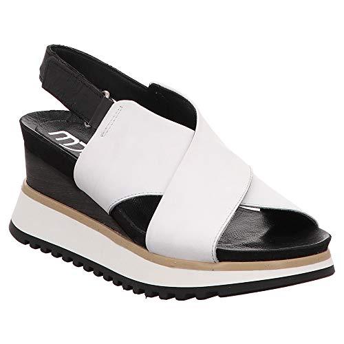 Mjus 912005-501-0001 - Damen Schuhe Sandaletten - Bianco-Nero, Größe:40 EU