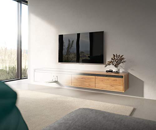 DELIFE Wandmontage 2er Set für Lowboards TV-Tisch Schwebend