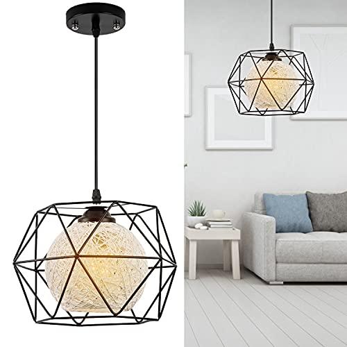 Lámpara Colgante Vintage de Metal, EYLM Lámpara de Techo Interior para Cocina, Sala, Comedor, Dormitorio (Diámetro 30 cm)
