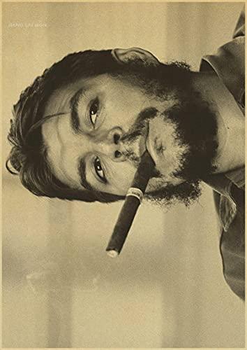LGYJAL Che Guevara Retro Movie Comic Book Poster Home Dormitorio Dormitorio Decoración Pintura Fondo de Pared Mapa Dibujo Foto 50x70 cm (19.68x27.55 in)