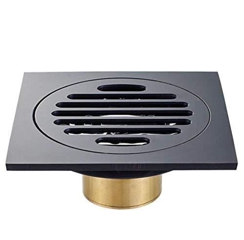 Rmbearmoni vloer afvoer zwart koper vier kant geur deodorisatie type vloer afvoer fabriek directe verkoop speciale vloer afvoer voor wasmachine messing