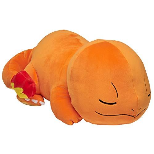 Pokemon Charmander Plush, 18' Pokémon Plush Toy - Adorable Sleeping Charmander - Ultra-Soft Plush Material, Perfect for Playing, Cuddling & Sleeping - Gotta Catch 'Em All