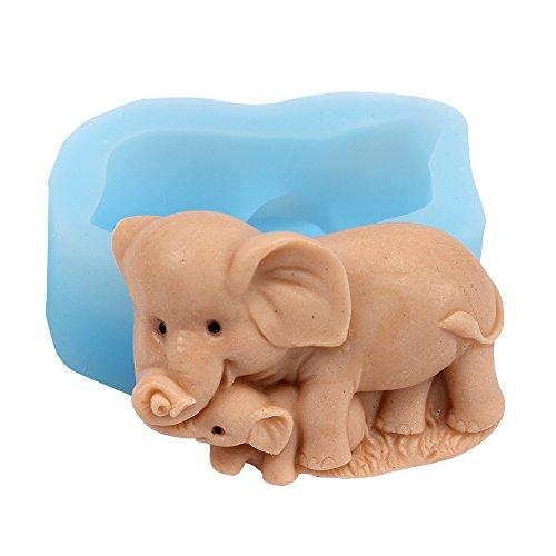 Nicole R1666éléphant Mère et enfant en silicone Savon Moule à savon fait à la main CE qui la rend Moule