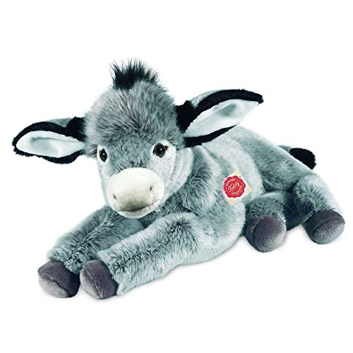 Teddy Hermann 90249 Esel liegend 50 cm, Kuscheltier, Plüschtier