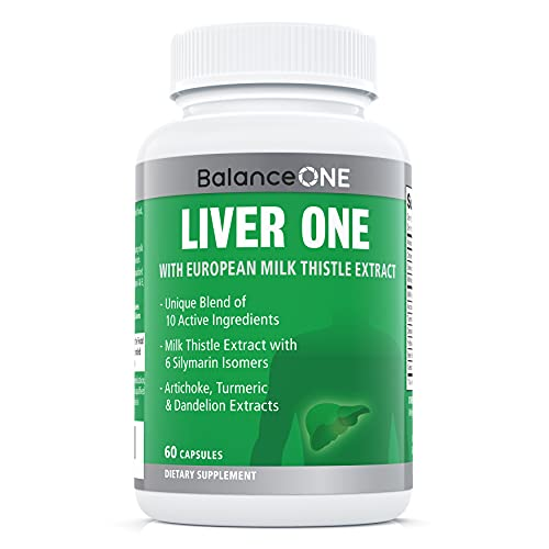 Liver One by Balance One Supplements - 10 Antioxidant Ingredients for Natural Liver Support - Milk Thistle, Molybdenum, Dandelion, Artichoke - Vegan, Non-GMO - 30 Day Supply