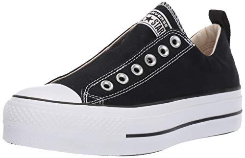 Converse Women's Chuck Taylor All Star Lift Slip Sneaker, Black/White/Black, 7.5 M US
