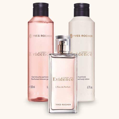 Yves Rocher COMME UNE EVIDENCE Duft-Set, blumiges Geschenk-Set mit Duschgel, Körpermilch & Eau de Parfum, Valentinstag Geschenkidee für Frauen