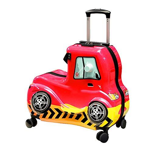 SXDY Maleta para niños con polea y cinturón de Seguridad, diseño de absorción de Impactos, tracción y Cierre Suaves, para Caminos de Cemento, Caminos estacionados, Caminos con baldosas, etc.
