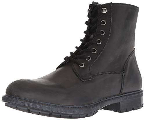 Steve Madden Men's SELF Made Smoky Combat Boot, Black Leather, 11 M US