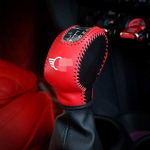 XYWD Auto Styling Handbremsgriffe Langlebig, Leder Schaltknauf Anti-Rutsch-Parken Handbremsen Hülse für Mini Cooper F54 F55 F56 F60 Countryman Dekoration Zubehör