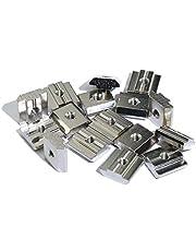 DShanLa 100st 50ps 20ps M3 M4 M5 M6 M8 T Block Noten Plein T-Track Sliding Hammer moer for Fastener Aluminium Profiel 2020 3030 4040 4545 DShanLa (Size : 20s m3 100pcs)