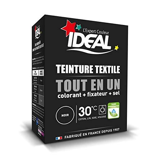 IDEAL - Teinture Tissus Poudre Tout En Un Mini Noir 230G - Lot De 3 - Livraison Gratuite