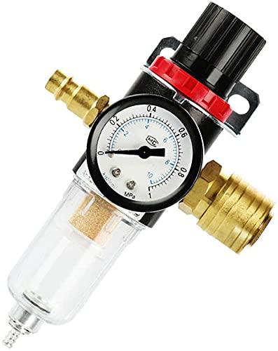 TOCYORIC 1/4 Filtro de aire Regulador Compresor Trampa de humedad Separador de agua-aceite, Regulador Aceite Agua Regulador de presión separador de aceite