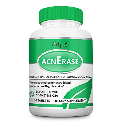 AcnErase - Acne Pills Supplement Treatment for Men, Women, Teens - 30 Natural Tablets