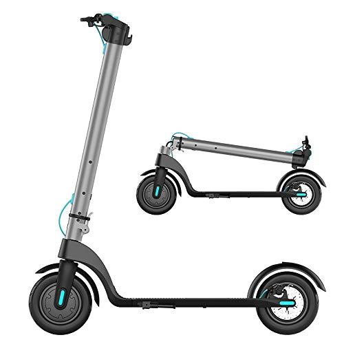 YAUUYA E-Scooter - Patinete eléctrico ultraligero, plegable portátil, neumáticos antideflagrantes de 8,5 pulgadas, velocidad 32 km/h, carga 120 kg, resistencia 15/20 km