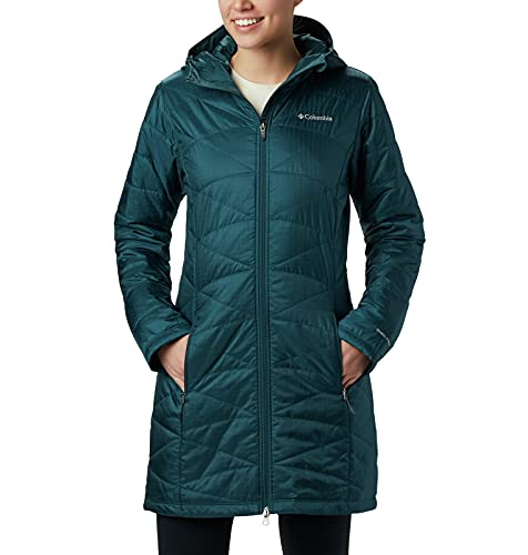 Columbia Women's Mighty Lite Hooded Jacket, Dark Seas, Medium