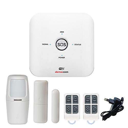 Alarma para casa AZ038 Wi Fi GSM Compatible Google Home Amazon Alexa. Facil configuración. Asistencia técnica Castellano desde España. Soporte técnico. Seguridad para el hogar y oficina. Inalámbrico
