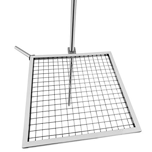Karpevta Adjustable Campfire Swivel 24'X24' Campfire Grill Grate Stainless Steel Fire Pit Grill for Fire Pit 360-Degree Rotating Campfire Barbecue Rack