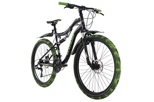 KS Cycling Mountainbike Fully 26\'\' Crusher schwarz-grün RH 46 cm
