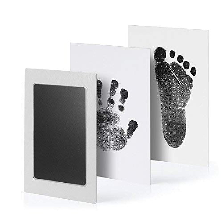 赤ちゃん 手形 足形キット PChero 0-6月赤ちゃん対応 インクタッチなし 特別インクパッド ペット 愛犬 猫 ベビーフレーム記念品 手足型 出産祝い 男女通用 新生児 写真立て 2枚インクパッド+4枚のインプリントカード